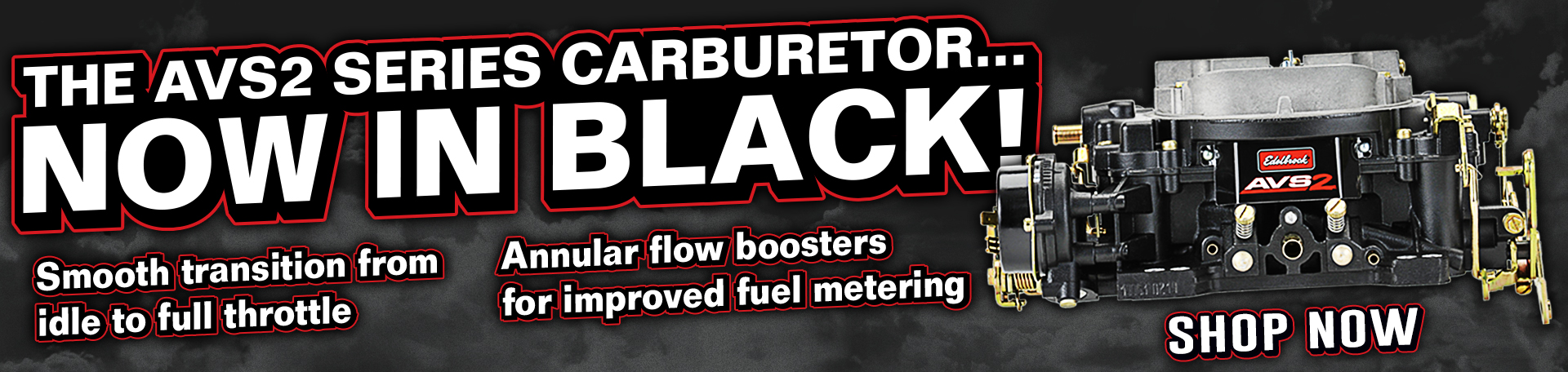 Edelbrock AVS2 Black Finish Carburetors - Learn More!