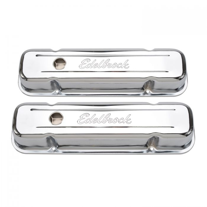 Edelbrock 4457 Signature Series Valve Cover Pontiac Tall Black