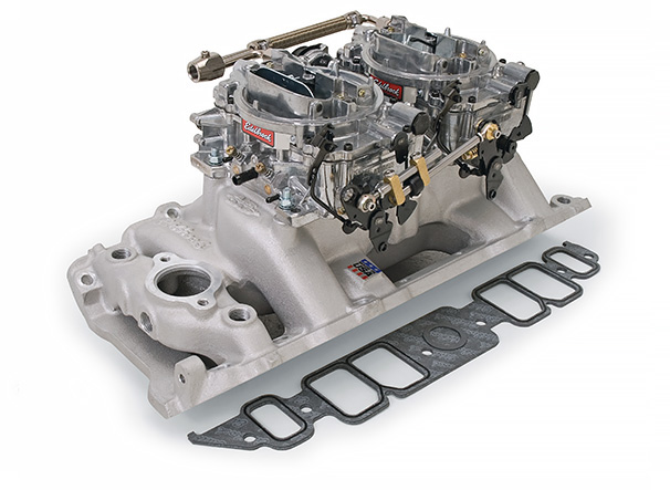 Edelbrock Dual-Quad Manifold and Carb Kits