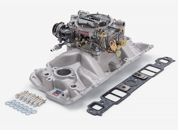 Edelbrock Single-Quad Manifold and Carb Kits